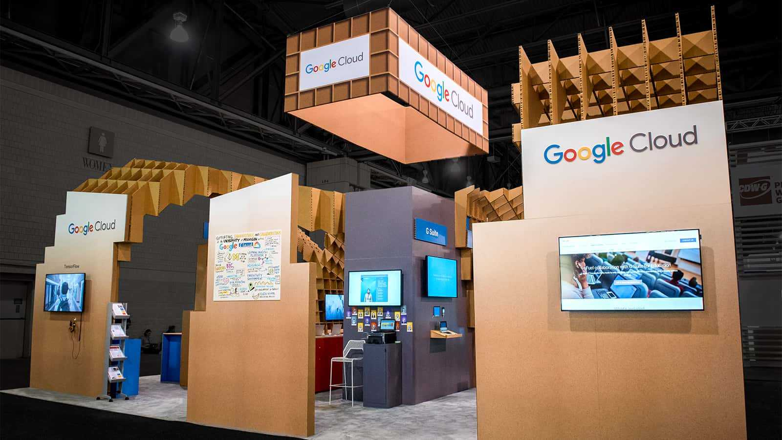 Right side view of Google for Education EDUCAUSE 2017 experience.