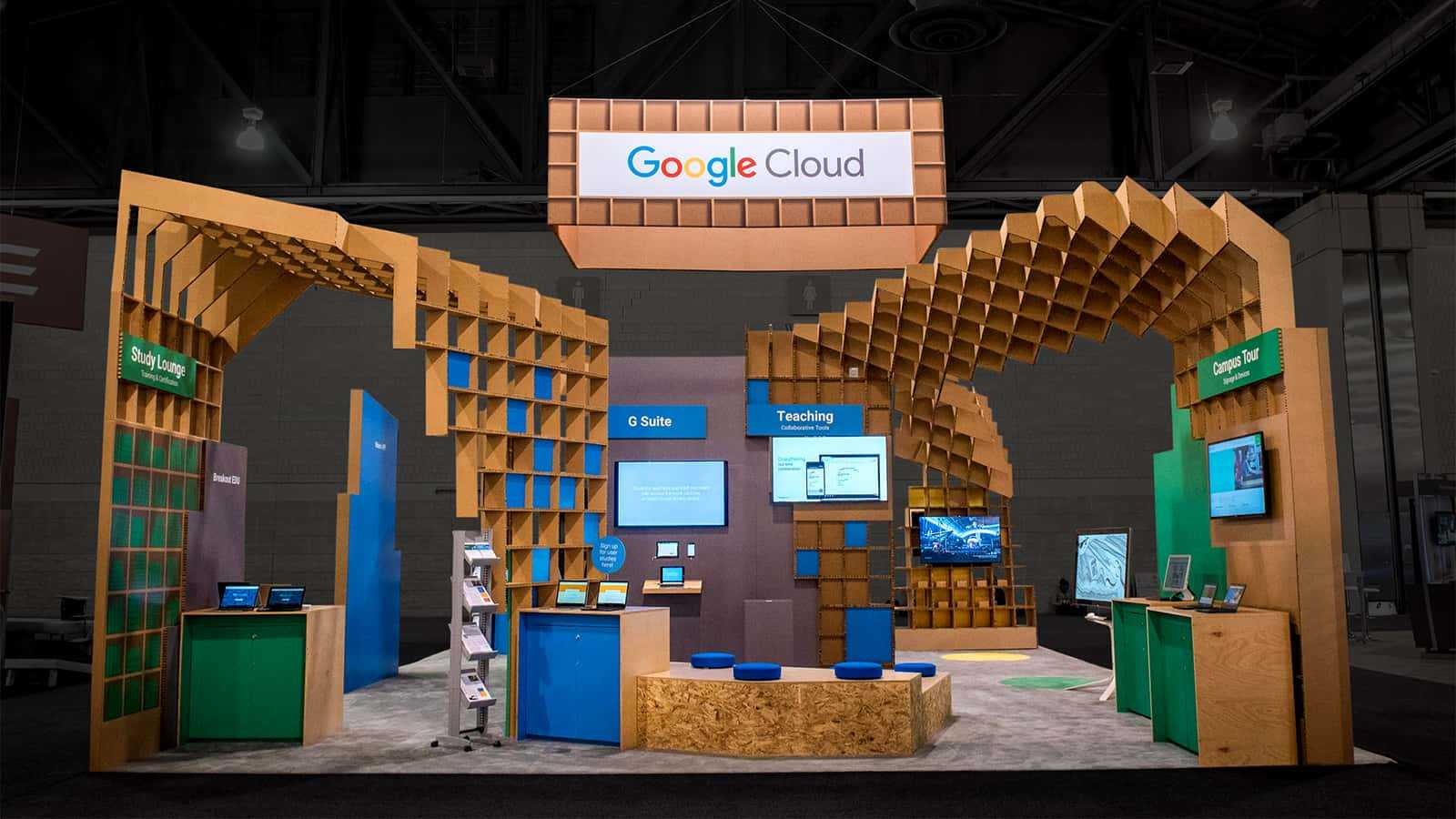 Rear view of Google for Education EDUCAUSE 2017 experience.