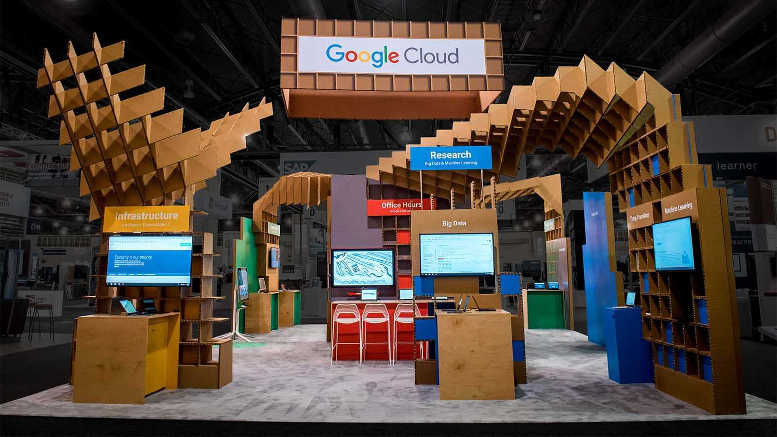 Front view of the Google for Education EDUCAUSE 2107 experience.