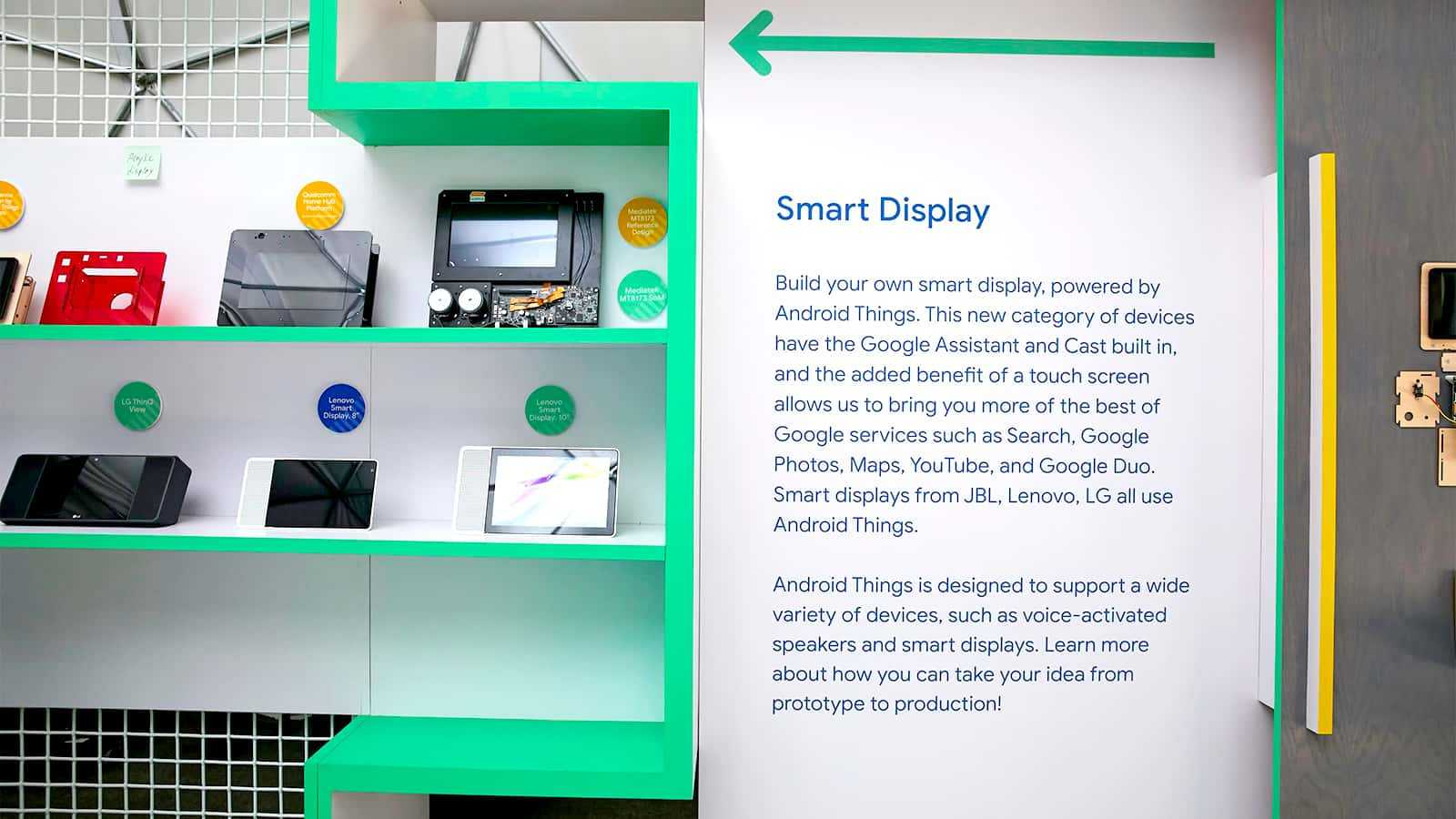 Sandbox graphic display at Google I/O 2018.