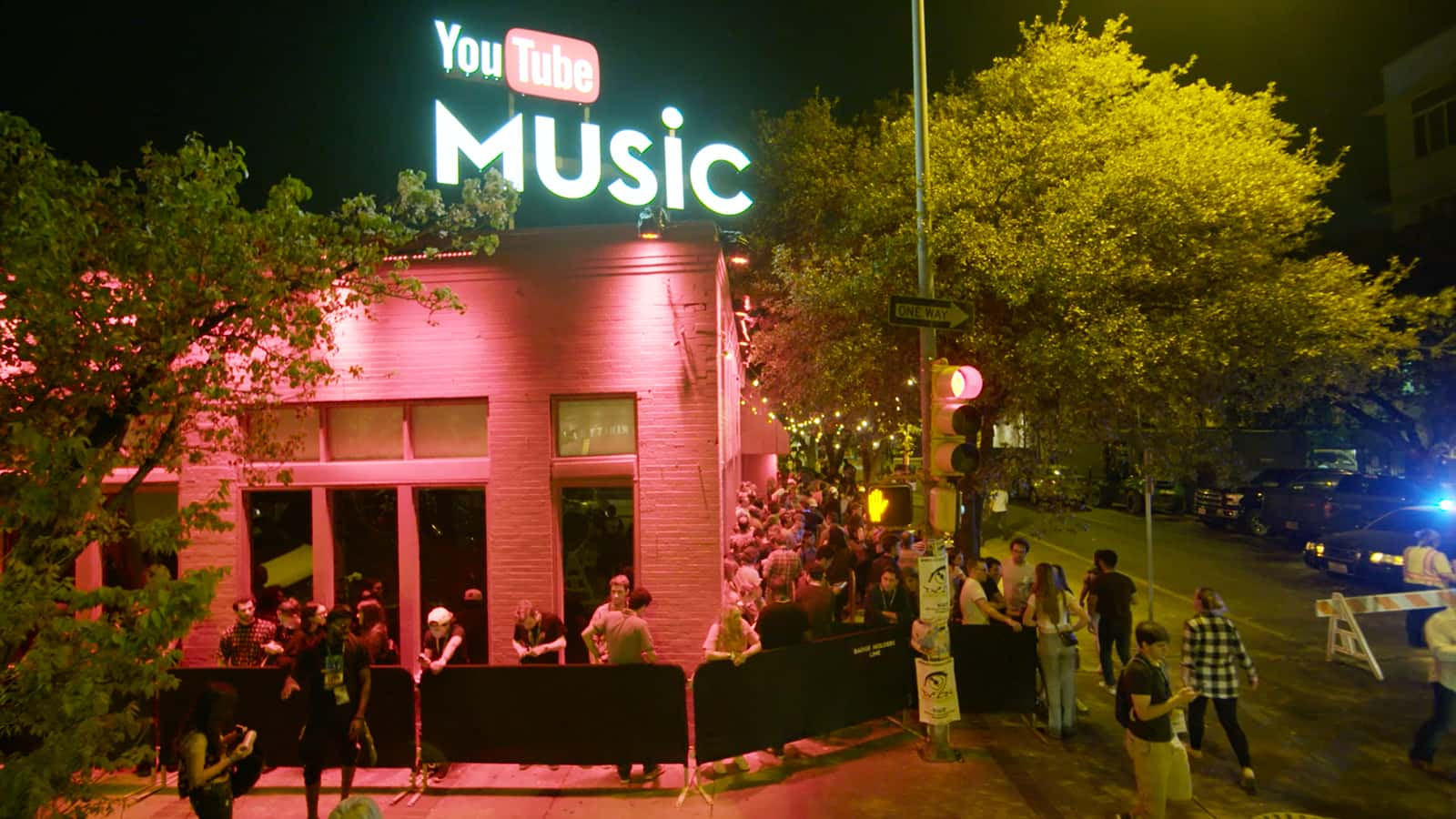 The entrance of the YouTube Music Insights Data Visualizer experience at SWSW 2016.