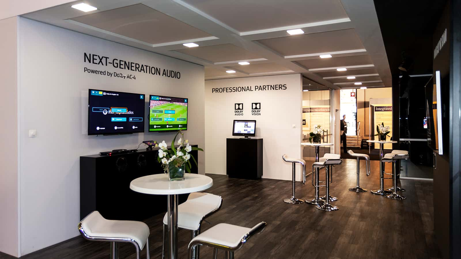 Informal meeting area at Dolby IBC Amsterdam 2015 experience.