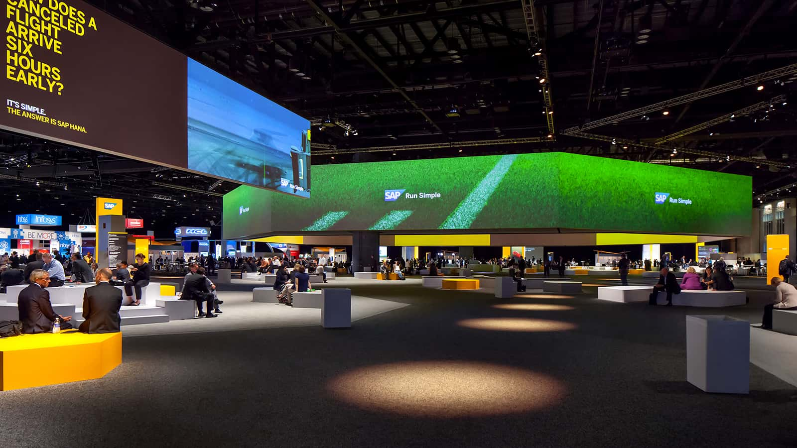 SAP SAPPHIRE NOW conference 2015 gathering and informal meeting area.