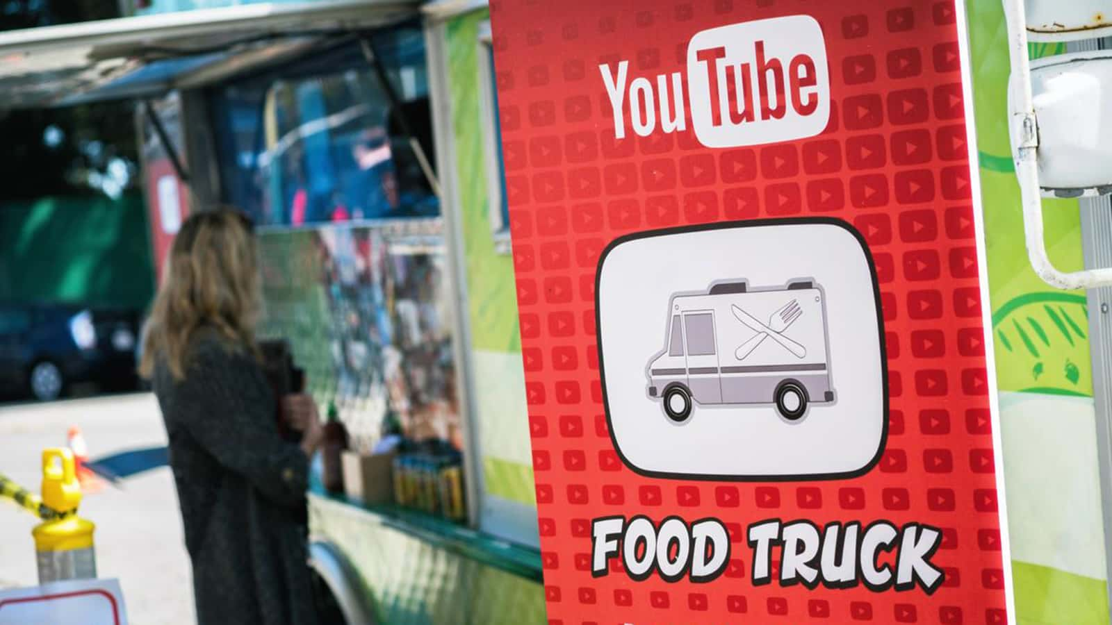 YouTube food truck at the YouTube Community Contributors Summit 2016.