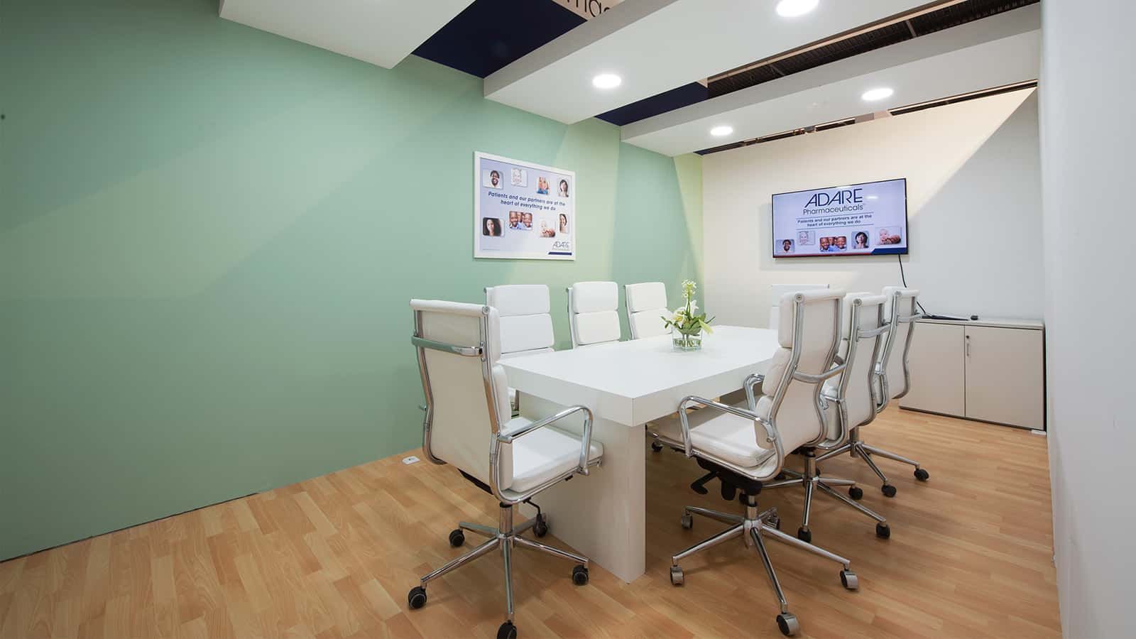 Meeting room at Adare Pharmaceuticals CPhI Spain 2016 experience.