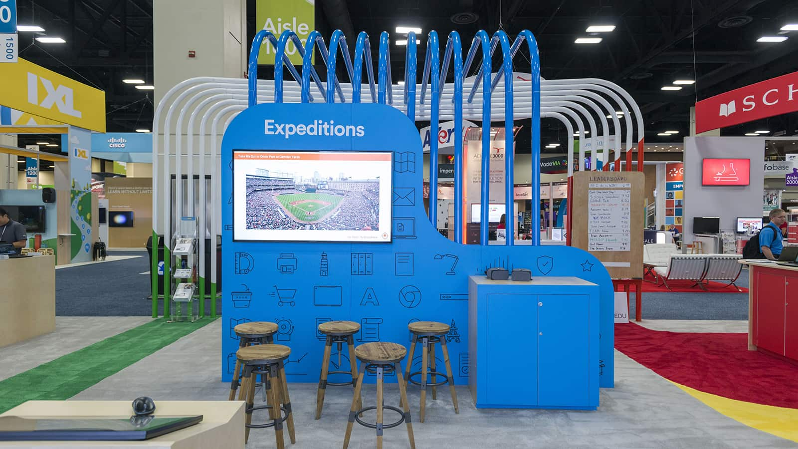 The Expedition station at the Google for Education ISTE 2017 experience.