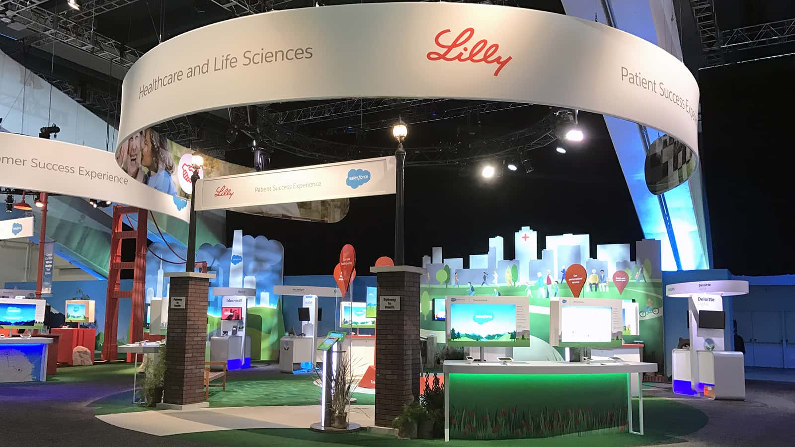 Right side view of the Lilly Treadmill experience at Salesforce Dreamforce 2016.