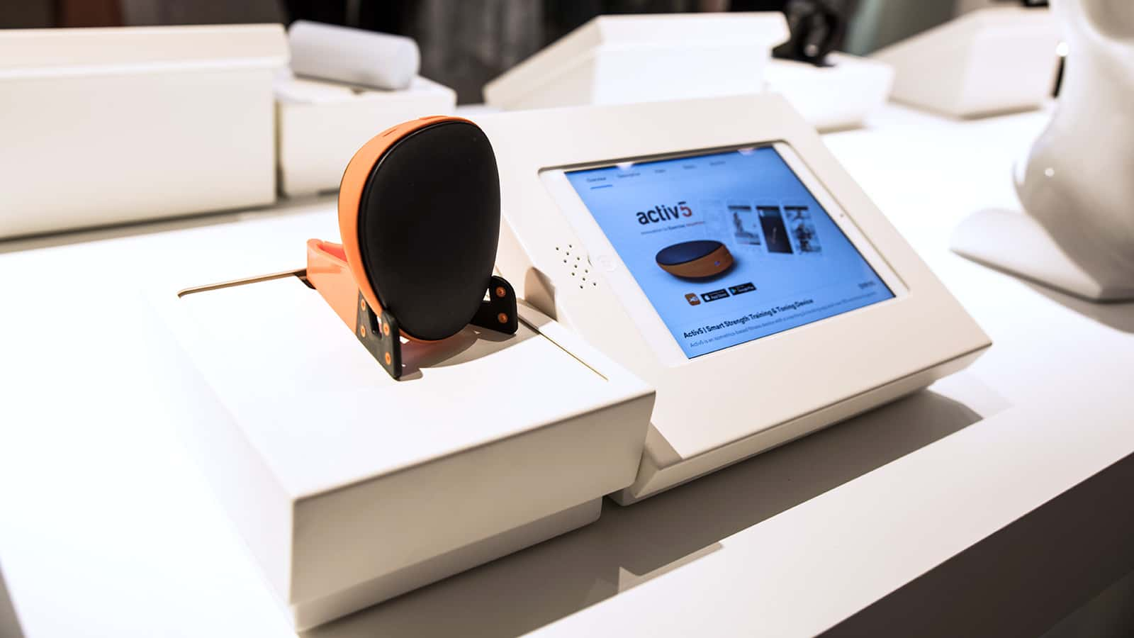 View of store technology at Marie Claire Next Big Thing Concept Shop in New York City 2017.