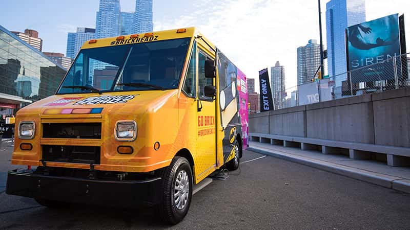 An example of mobile marketing vehicles like LEGO's food truck.