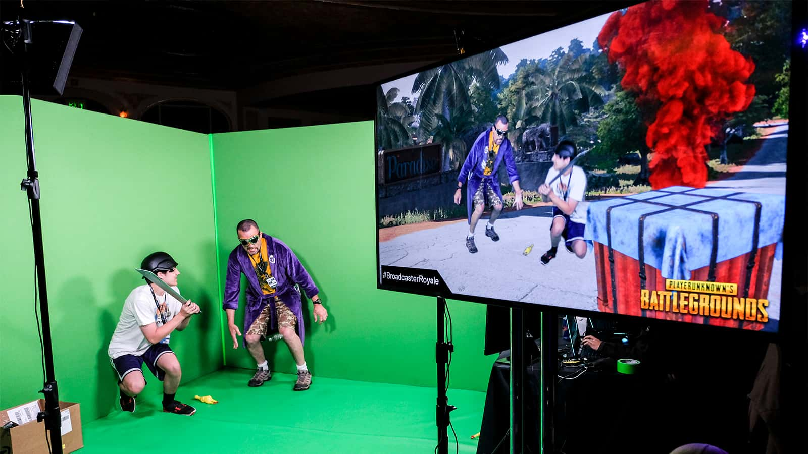 Green screen activation at Paramount theater at Twitch Broadcaster Royale.