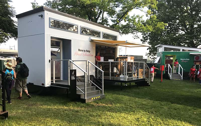 State Farm's Neighborhood of Good is an example of tiny house activations.